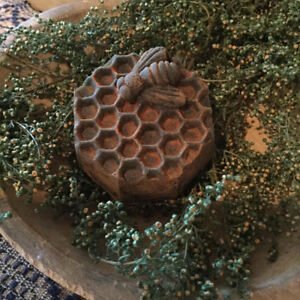 New Primitive Country Blackened Beeswax Bee Honeycomb