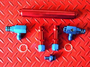 Billet Holley Aluminum Red Blue Anodized Fuel Log New