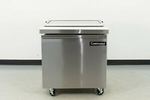 Used Continental Sw32 12m 32 1 Door Refrigerated Sandwich Prep Table