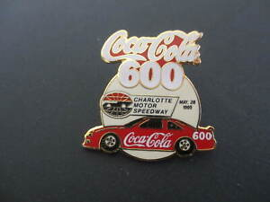 1995 Coca-Cola 600 Charlotte Motor Speedway  Lapel Hat Pin