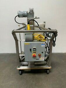 Thermo Scientific Hyclone 200l Mixer Model Sv50182 01 On Rolling Cart