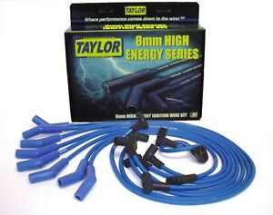 Taylor Cable 64604 Spark Plug Wire Set Blue