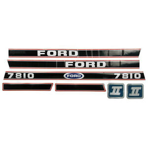 Ford New Holland Tractor 7810 Hood Decal Set