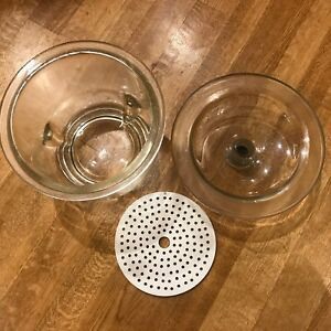 Heavy Duty Pyrex Desiccator Jar W Lid And Coors Porcelain Drying Plate