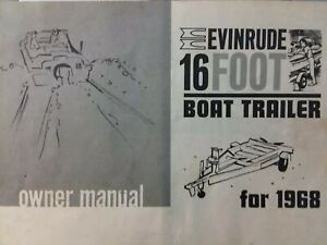 Evinrude 16 Foot Boat Trailer 1968 Owners Manual Surge Disc Brakes 2 Sp Winch