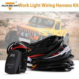 Auxbeam Universal Driving Work Light Wiring Harness Kit Led Bar Switch Cable