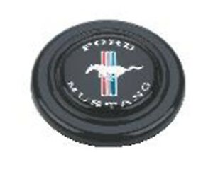 Grant 5668 Ford Licensed Horn Button Black Plastic Fits Mustang Signature Wheels
