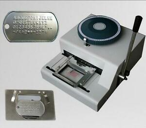 52d Manual Steel Dog Tag Embosser Id Card Military Embossing Stamping Machine M