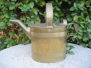 Antique Brass Watering Can Hot Water Can J Hookham Son Birmingham 6 222