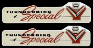 Thunderbird 1956 1957 Special V8 312 Cu In Engine Valve Cover Decal Set