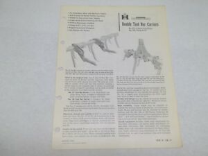 International Harvester 27 28 Double Tool Bar Carriers Sales Reference Brochure