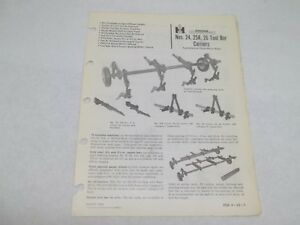 International Harvester 24 25a 26 Tool Bar Carriers Sales Reference Brochure