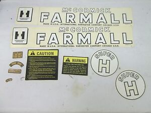 International Harvester Farmall Super H Decal Kit 358164 r94