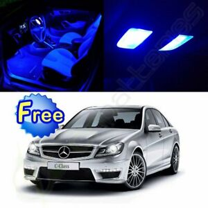 14x Blue Led Lights Interior Package 2000 2007 For Mercedes Benz C Class W203