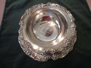 Reed Barton King Francis Sauce Dish Attached Underplate Silver Plate 1691