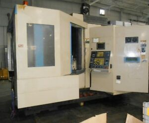 1998 Kia 63h Cnc Hmc Horizontal Machining Center Under Power Fanuc