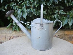 1 Gallon Vintage Galvanised Metal Watering Can With Copper Rose 232
