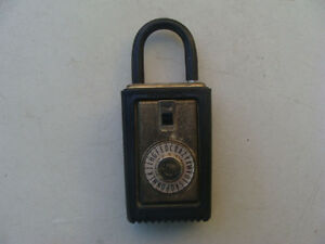 Vintage Supra c Realtor Lock Box Combination Padlock Locked