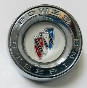 1961 Buick Lesabre Invicta Chrome Power Steering Wheel Horn Button