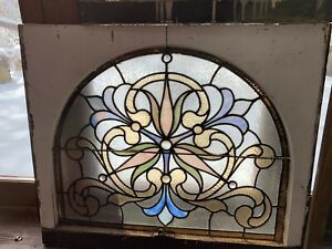 Victorian Arched Stained Glass Window