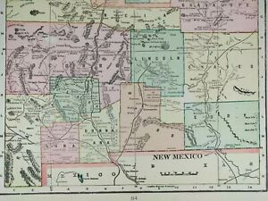 Vintage 1903 New Mexico Territory Atlas Map 11 X14 Old Antique Original Mapz