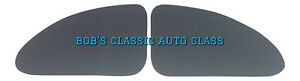 1937 1938 1939 1940 Ford Coupe Quarter Glass Pair New Auto 2 Door Flat Windows