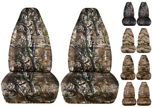 Fit Suzuki Samurai Front Car Seat Covers Camo Reeds wetland hawaii Prints
