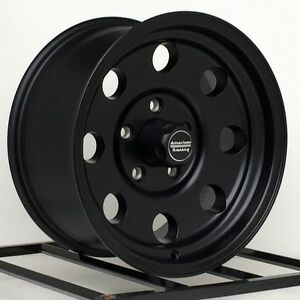 15 Inch Black Wheels Rims Chevy Gmc Truck Astro 5 Lug 5x5 American Racing Set 5