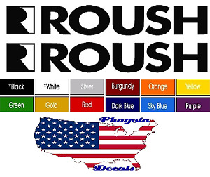 Roush Trunk Hood Fender Decal Sticker Pair 14 X 3 Pick Color Buy Now Freeship