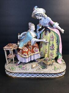 Antique French Porcelain Sceaux Porcelaine Figural Group Marked France C 1876