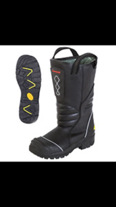 Pro Leather Fire Boots Model 5555 Nfpa 1971 2013 Edition Size 14 5 M