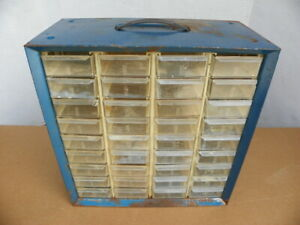 Large Vintage Akro mils 36 Drawer Nut bolt Small Parts Storage Cabinet Guc
