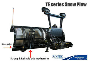 Skid Steer Snow Plow Trip Edge Stainless Steel Snowdogg Te75 Strong Video