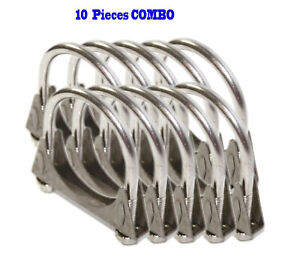 10 Pieces 2 5 I d Universal Heavy Duty Exhaust Hanger 2 1 2 Ss U Bolt Clamp