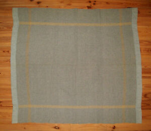 Old Antique Vtg 19th C 1880s Hand Made Loomed Wool Blanket 60 X 66 Very Nice