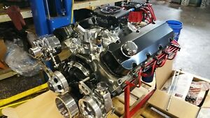 Bbc 454 496 Stroker Efi Chevy Turn Key Engine Alum Heads 639 Hp Chevrolet