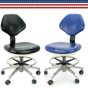 2 Color Pu Leather Dental Adjustable Stool Dentist Chair Hydraulic Rolling Stool