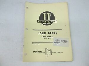 John Deere Model 2840 I t Shop Service Manual