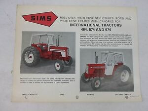 Sims International Harvester 464 574 674 All Weather Protective Cab Brochure