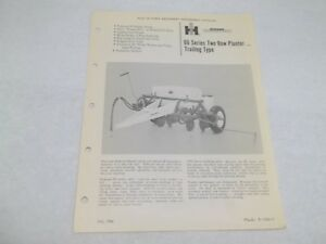 International 66 Series Trailing Two Row Planter Sales Reference Brochure