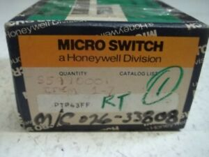 Microswitch Ptp43ff Pushbutton Switch Kit New In Box