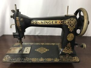 Rare Antique Singer Sewing Machine 9w Treadle Head Wheeler Wilson D9 Transition
