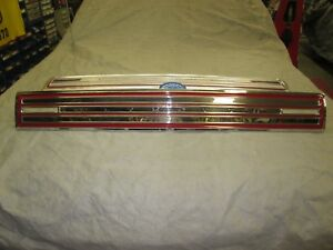 Mopar 1966 Plymouth Satellite Rear Deck Trunk Lid Finish Panel Molding Trim