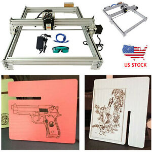 40x50cm 500mw Cnc Laser Engraving Machine 2axis Dc 12v Diy Engraver Desktop Us