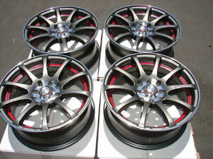 15 Wheels Honda Accord Civic Corolla Miata Cooper Cobalt Gun Metal Rims 4 Lugs