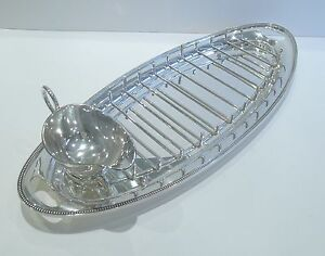 Antique English Silver Plated Asparagus Serving Dish C 1900