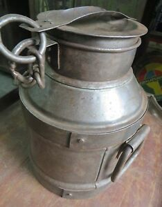 Vintage Milk Can Dairy Product Storage Pot Farm Decorative Origin India Handmade