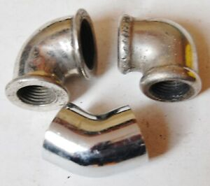 Lot Of 3 3 4 Inch Chrome Brass Pipe 90 Elbow 1 3 4 Inch 45 Elbow