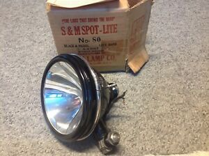 Lqqk Spot lite Early 6volt S m Lamp Co No 80 Vintage Auto Truck Lamp