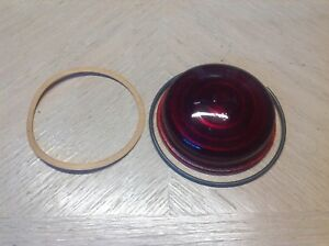 Bolser Red Glass Lens B 325 Marker Lamp Vintage Truck Travel Trailer Nos